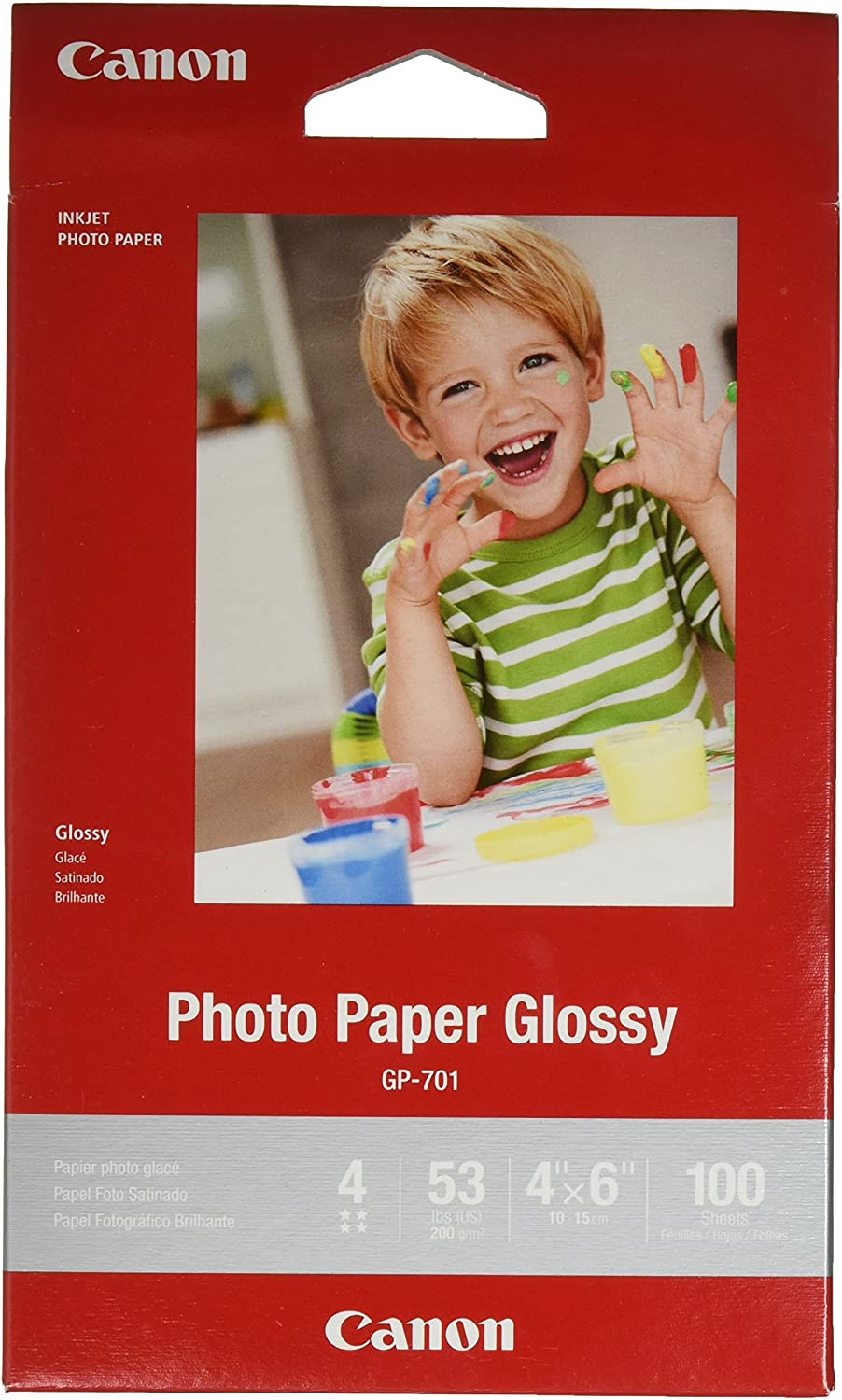 """CanonInk Glossy Photo Paper 4""""x 6"""" 100 Sheets (1433C001)"""