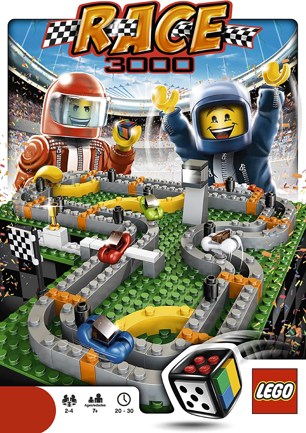 3839 NOT GAME Lego Instructions Race 3000 Game Build Ins and Rules