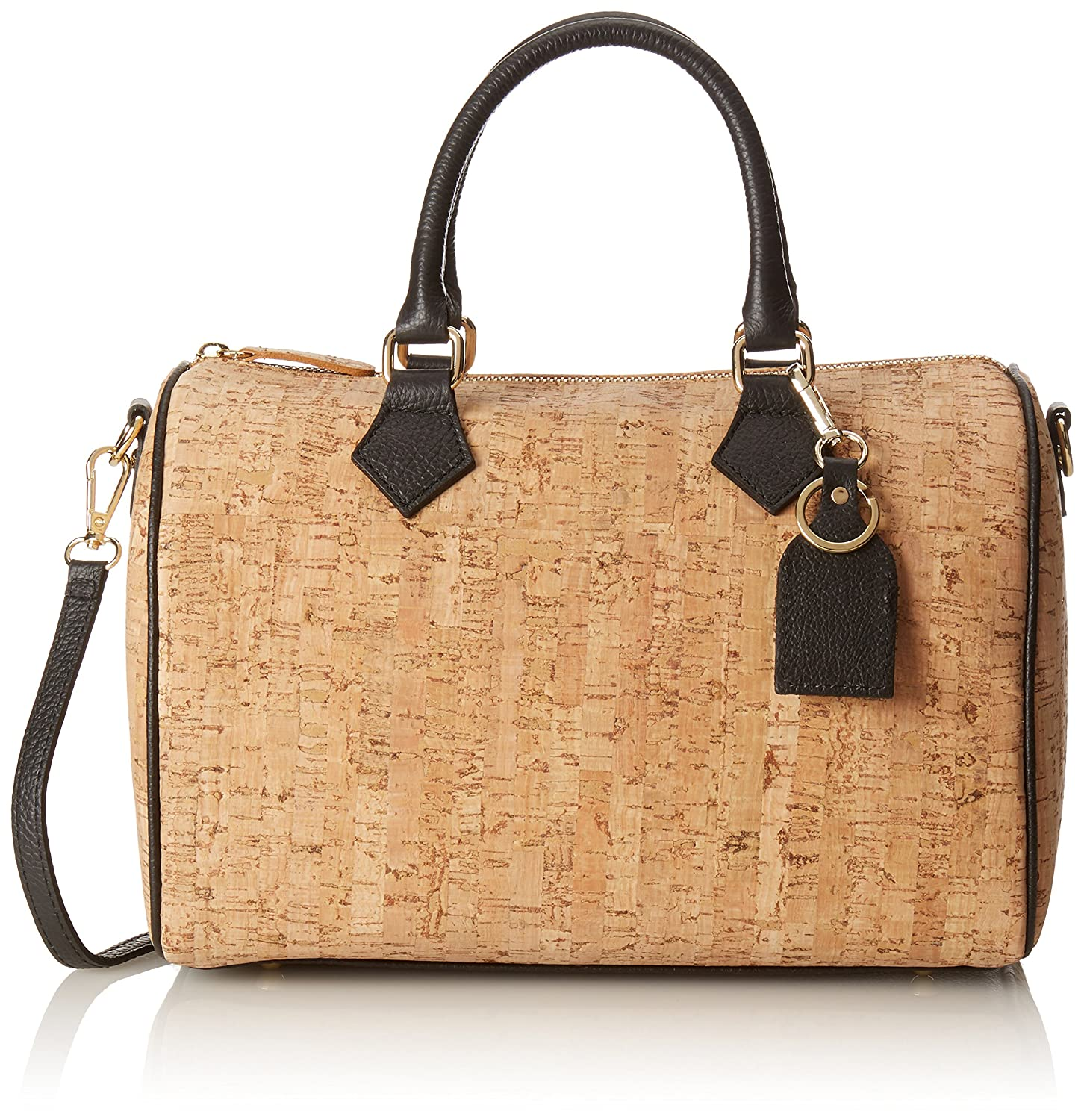 CTM Womans Handbag in genuine leather Made in Italy Cork coated - 42x30x17 Cm Chicca Tutto Moda kc4U9BGmY4