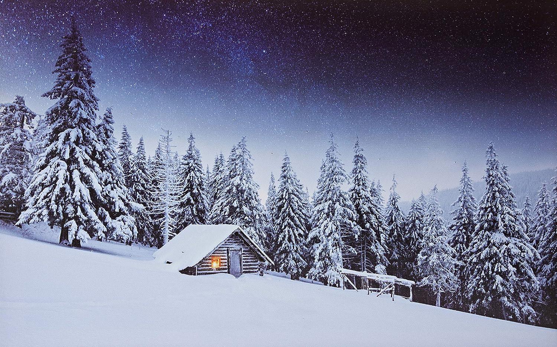 Jandei Lokomotive Zug im Schnee Landschafts-LED-Bild mit 3 LEDs