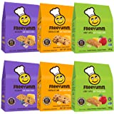 FreeYumm Soft Baked Bars Variety Pack - Chocolate Chip, Honey Apple, & Blueberry - 30 Individually Wrapped 4.8 oz. Bars - All