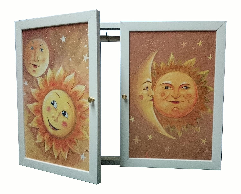 Tapa contador cuadro de puerta,m/ext luz Moldura c/cuelga llaves 2 puerta,m/ext de 34x48x5'7 cms. 72267c
