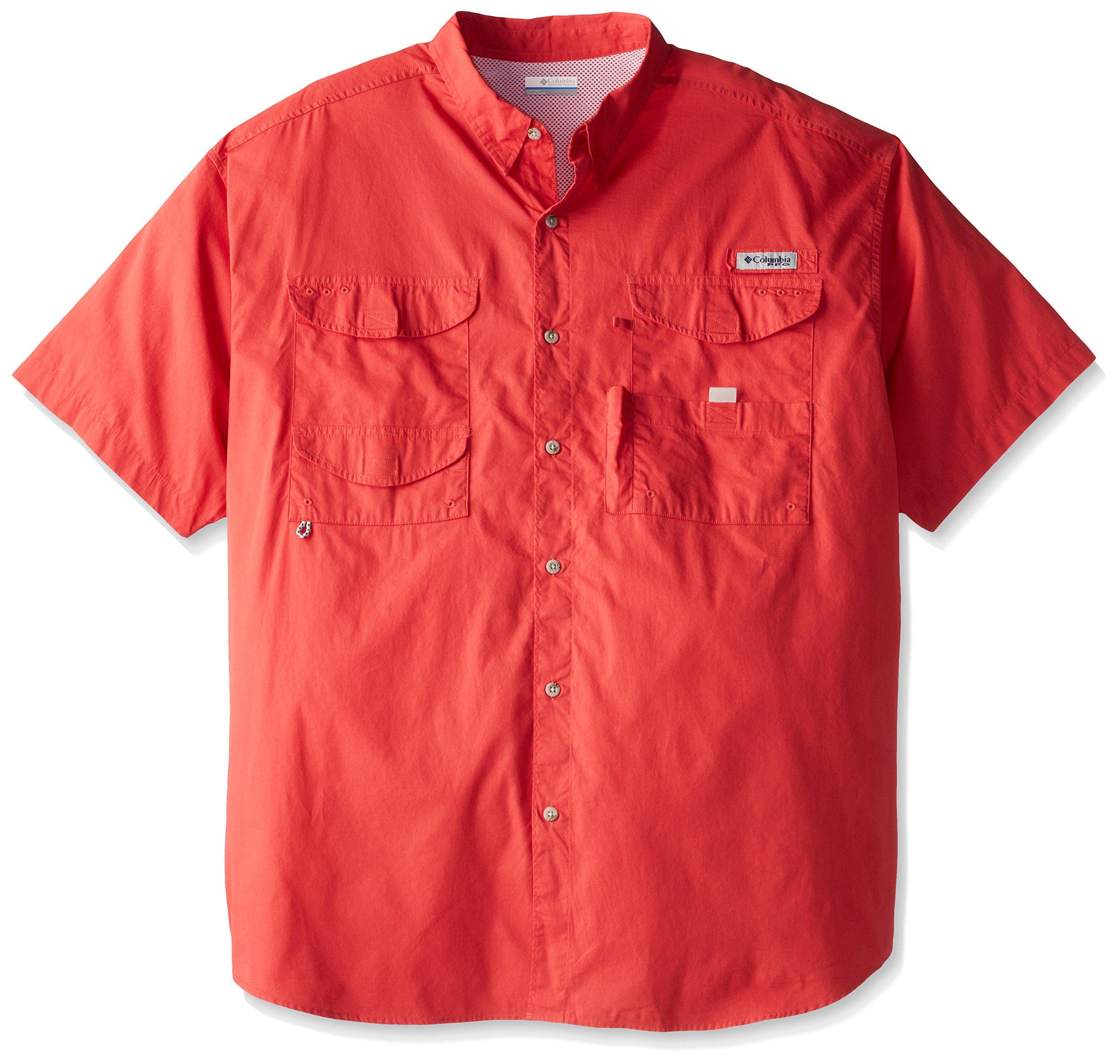 Columbia Men's Bonehead Short Sleeve Shirt, Sunset Red, Large by Columbia
