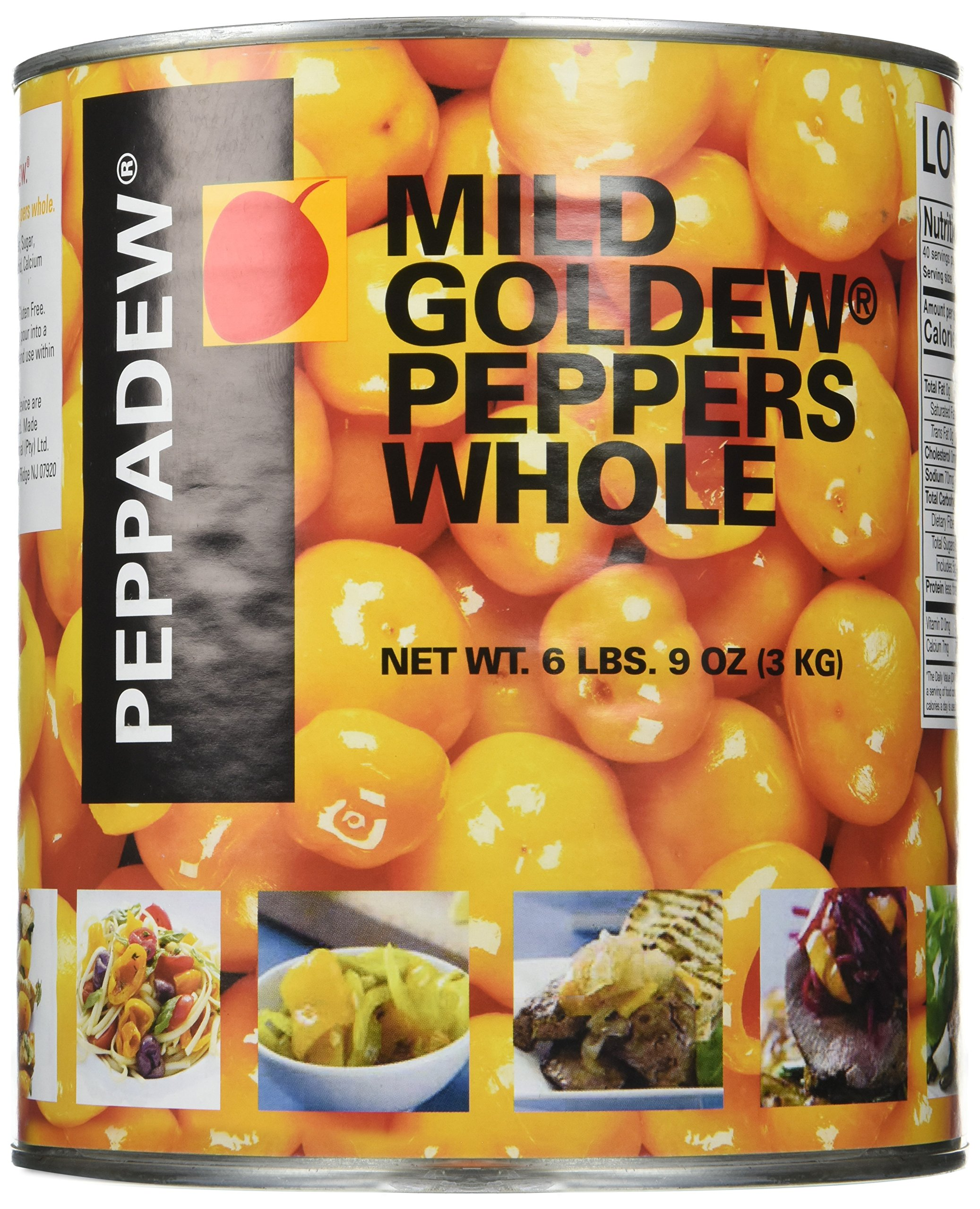 Peppadew Whole Goldew Fruit Yellow Peppers - 105oz