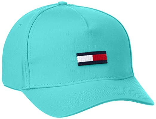 Tommy Hilfiger Thdm Flag 11-Gorra de béisbol, Hombre, Verde (Viridian Green