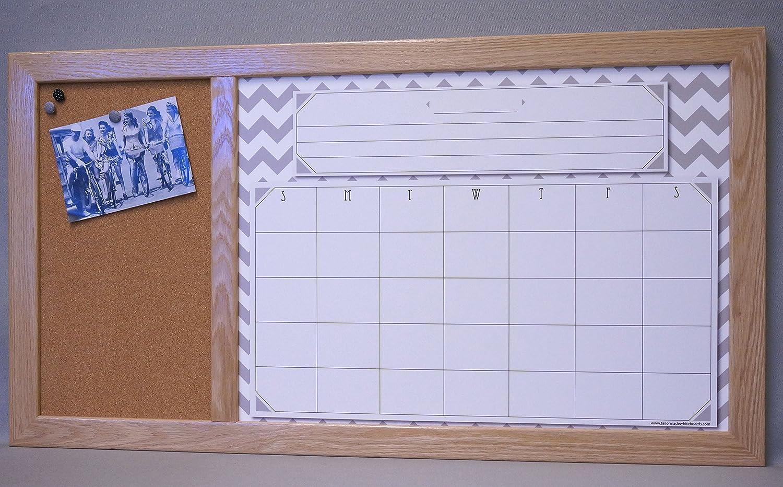 Amazon.com: Large Framed Dry Erase Board Calendar & Cork Board ...