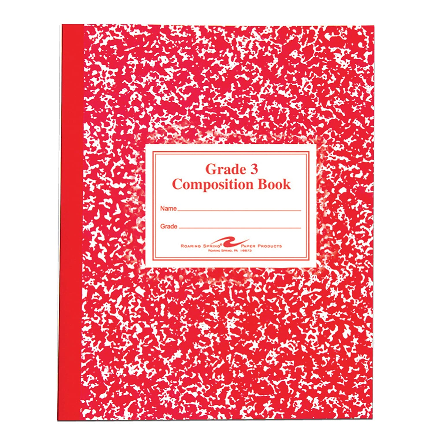 Grade School Ruled Composition Book, 9-3/4 x 7-3/4, WE/BE, 50 Pages