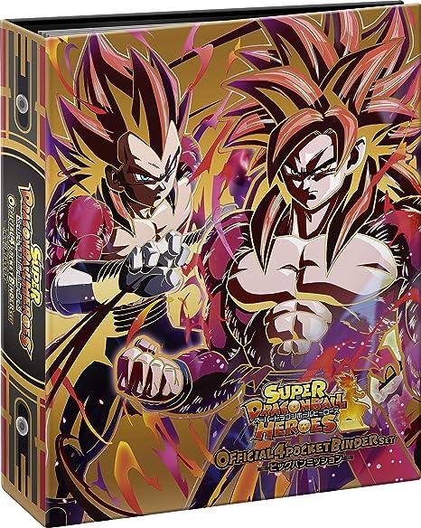 Super Dragon Ball Heroes Official 4 Pocket Binder Set Japan