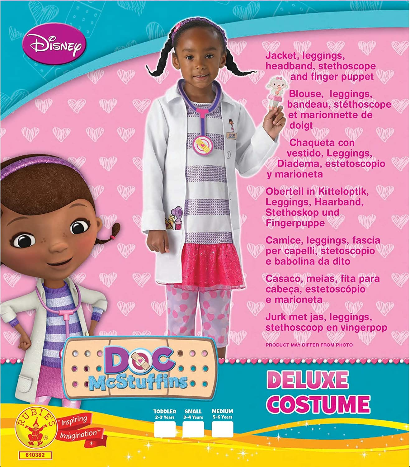 Amazon.com: Disney Little Girls Fancy Dress Costume Doc McStuffins Official Licensed 3-4 Years: Clothing
