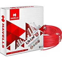 Havells Lifeline Cable WHFFDNA11X5 1.5 sq mm Wire (Red)