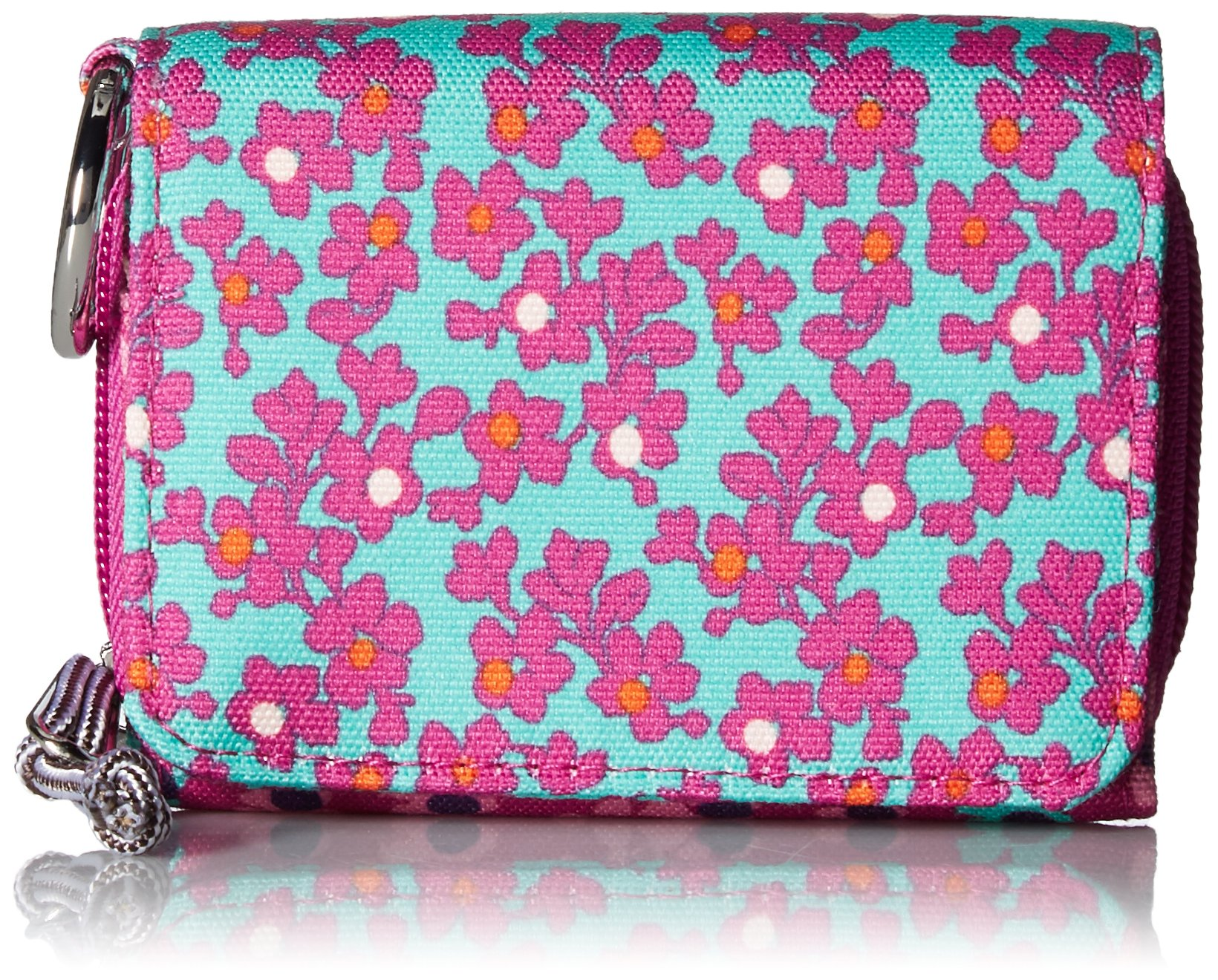 Vera Bradley Women's Lighten Up Printed Dot RFID Card Case, Ditsy, One Size