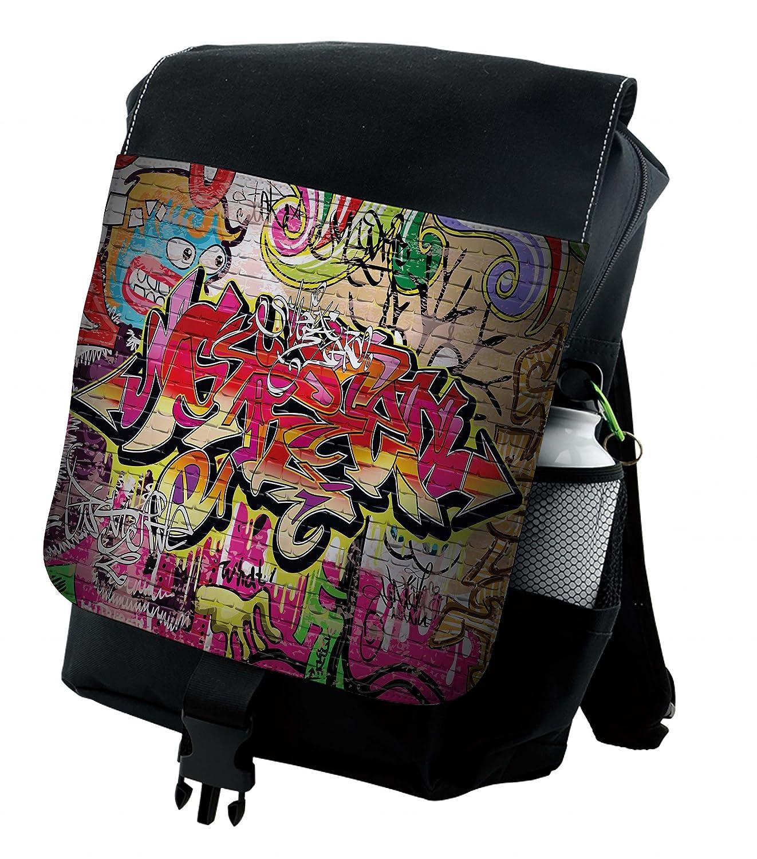 a7e93210b39c Lunarable Brick Wall Backpack, Graffiti Spray Paint, Durable All-Purpose Bag