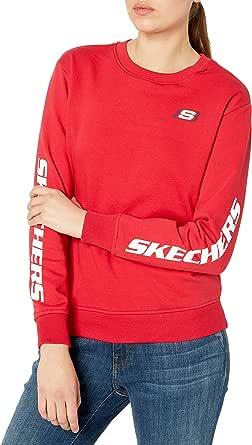 Skechers Womens WLT81 Heritage Crewneck Logo Sweatshirt Sweatshirt