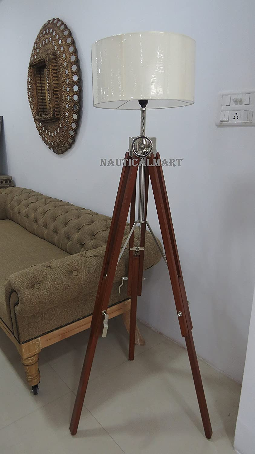 Classic Vintage Tripod Floor Lamp Corner Home Decor Lamp By Nauticalmart