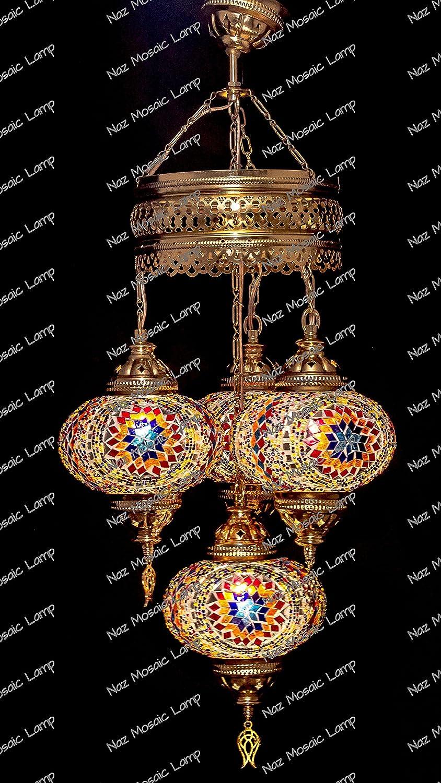 Lámpara con mosaicos de estilo árabe: Amazon.es: Iluminación