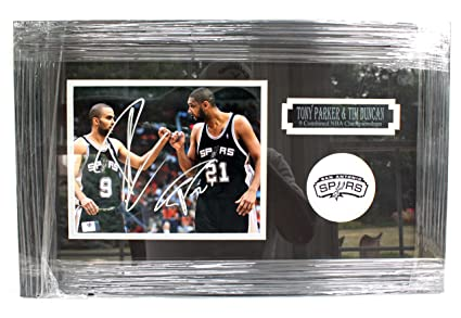 Image Unavailable. Image not available for. Color  Tim Duncan and Tony  Parker San Antonio Spurs Signed Autographed ... b6db000ea
