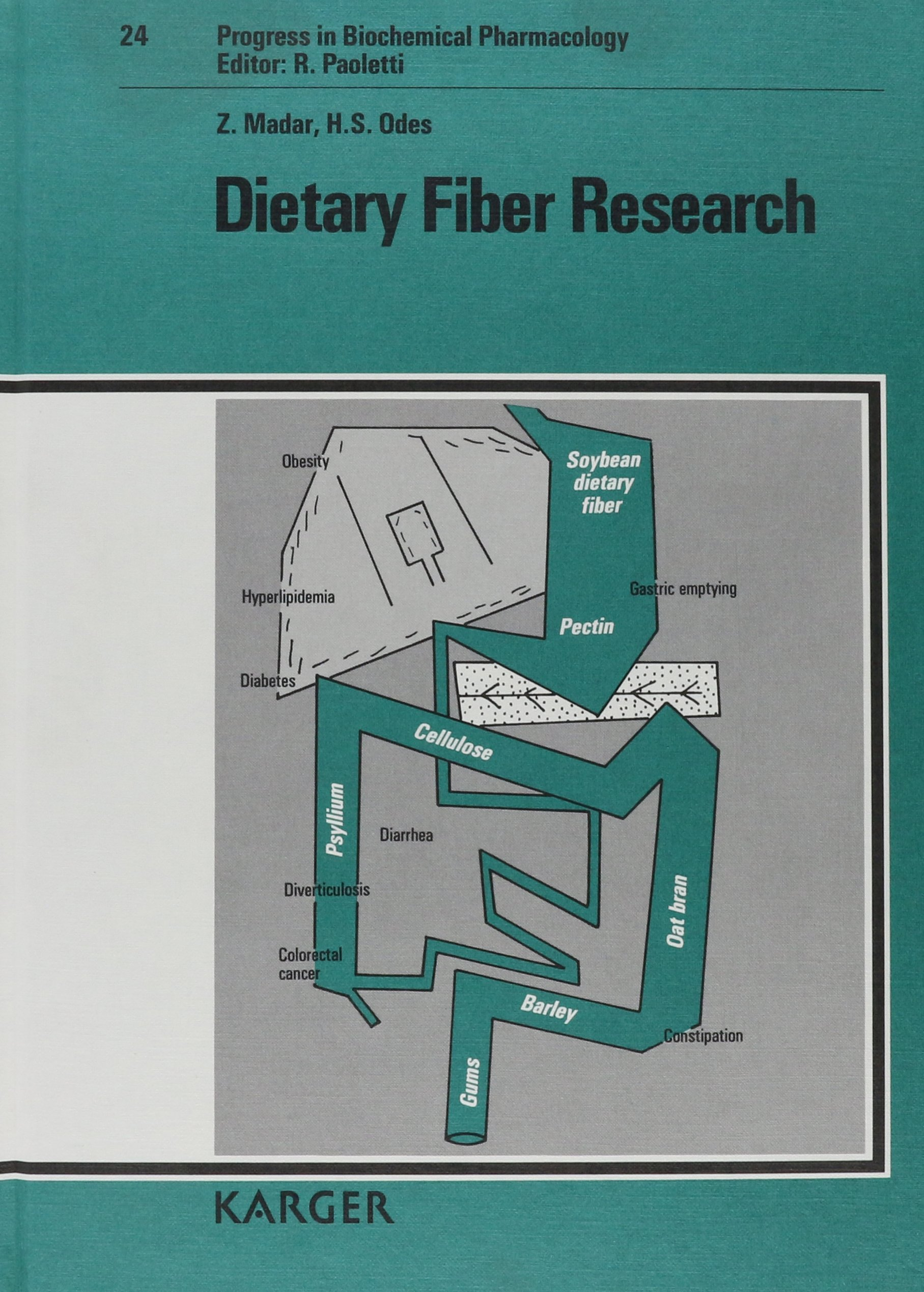 Dietary Fiber Research (Progress in Biochemical Pharmacology, Vol. 24)