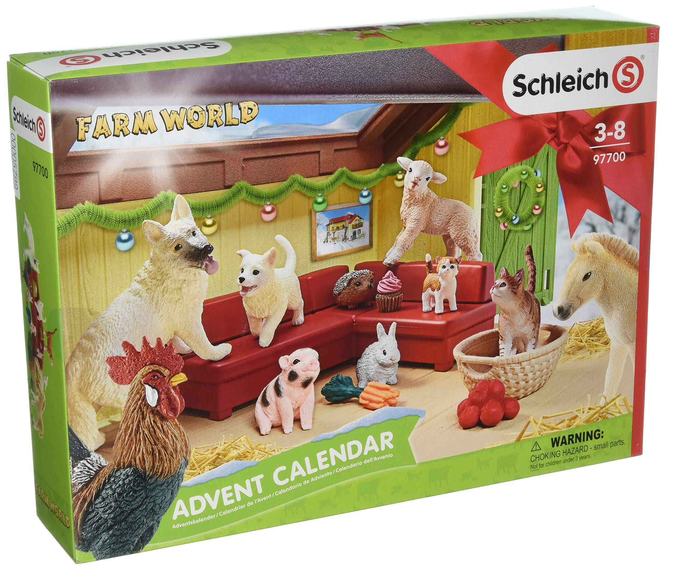 Schleich Farm World 2018 Advent Calendar Toy, Multicolor