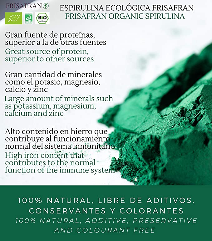 FRISAFRAN - Espirulina en Polvo Orgánica (150Gr)