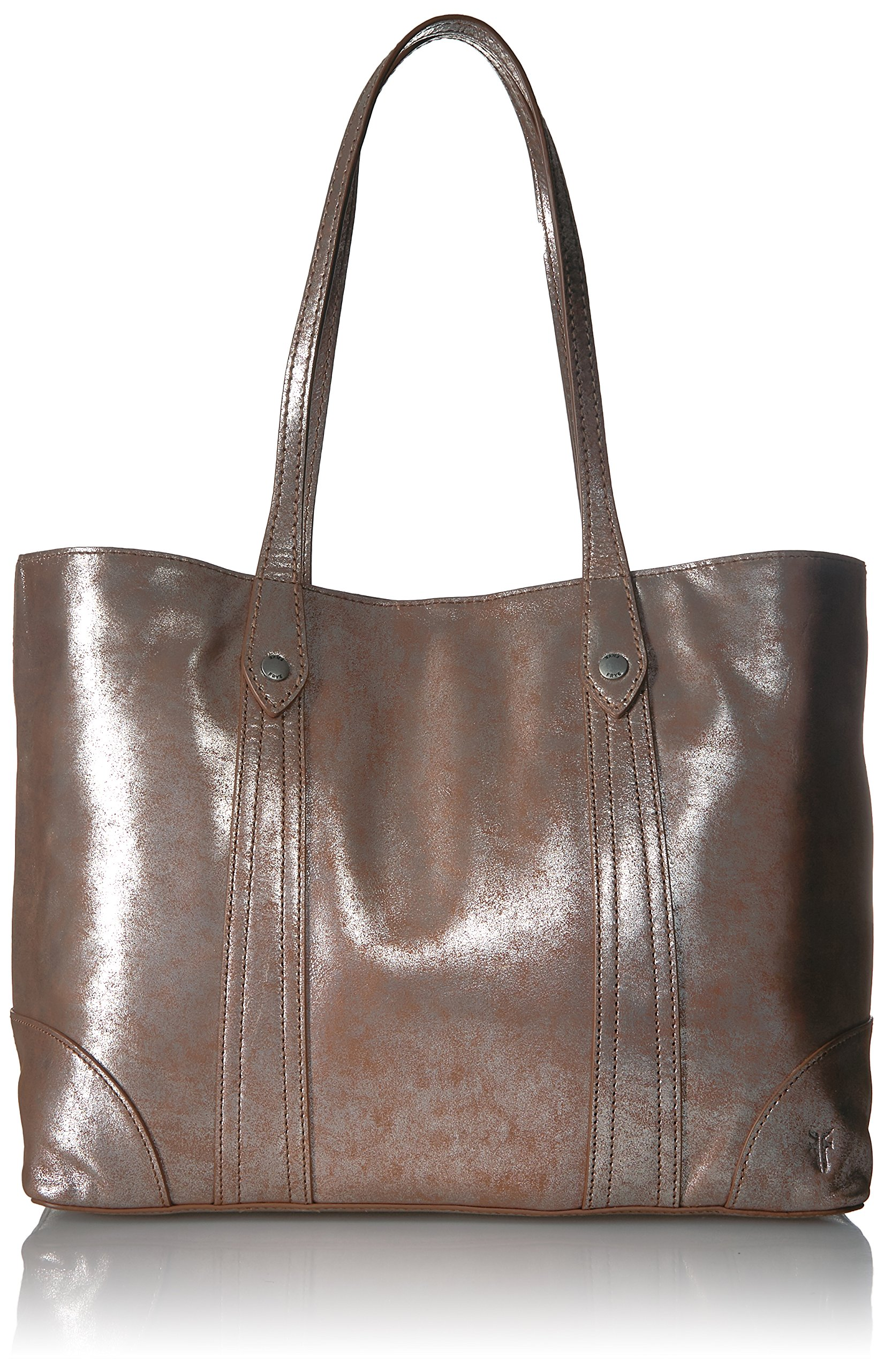 FRYE Melissa Shopper Tote Leather Handbag, Silver/Multi , One Size