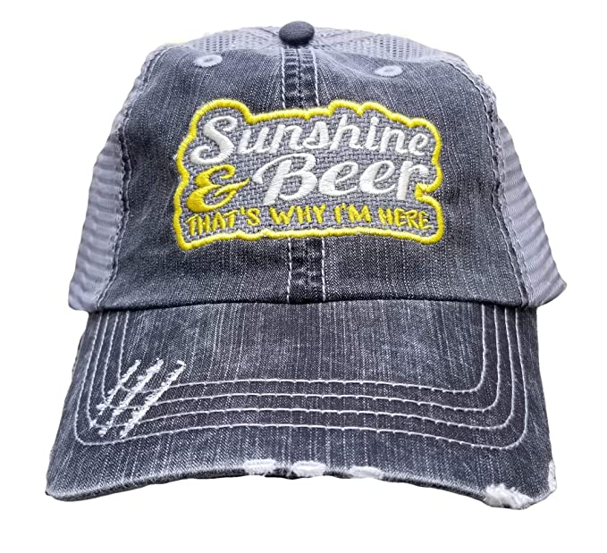 7a492e5e16e Image Unavailable. Image not available for. Color: Sunshine and Beer That's  Why I'm Here, Low Profile Distressed ...