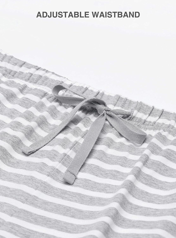 Femofit Womens Sleep Shorts Pajama Shorts Lounge Shorts Boxer Shorts S~XL Pack of 2