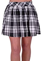EyeCatch - Imogen Elasticated Womens Tartan Mini Skirt