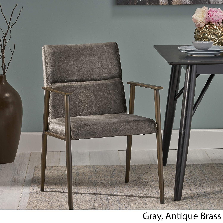 Amazon.com: Doris Moderna silla de terciopelo Glam para ...