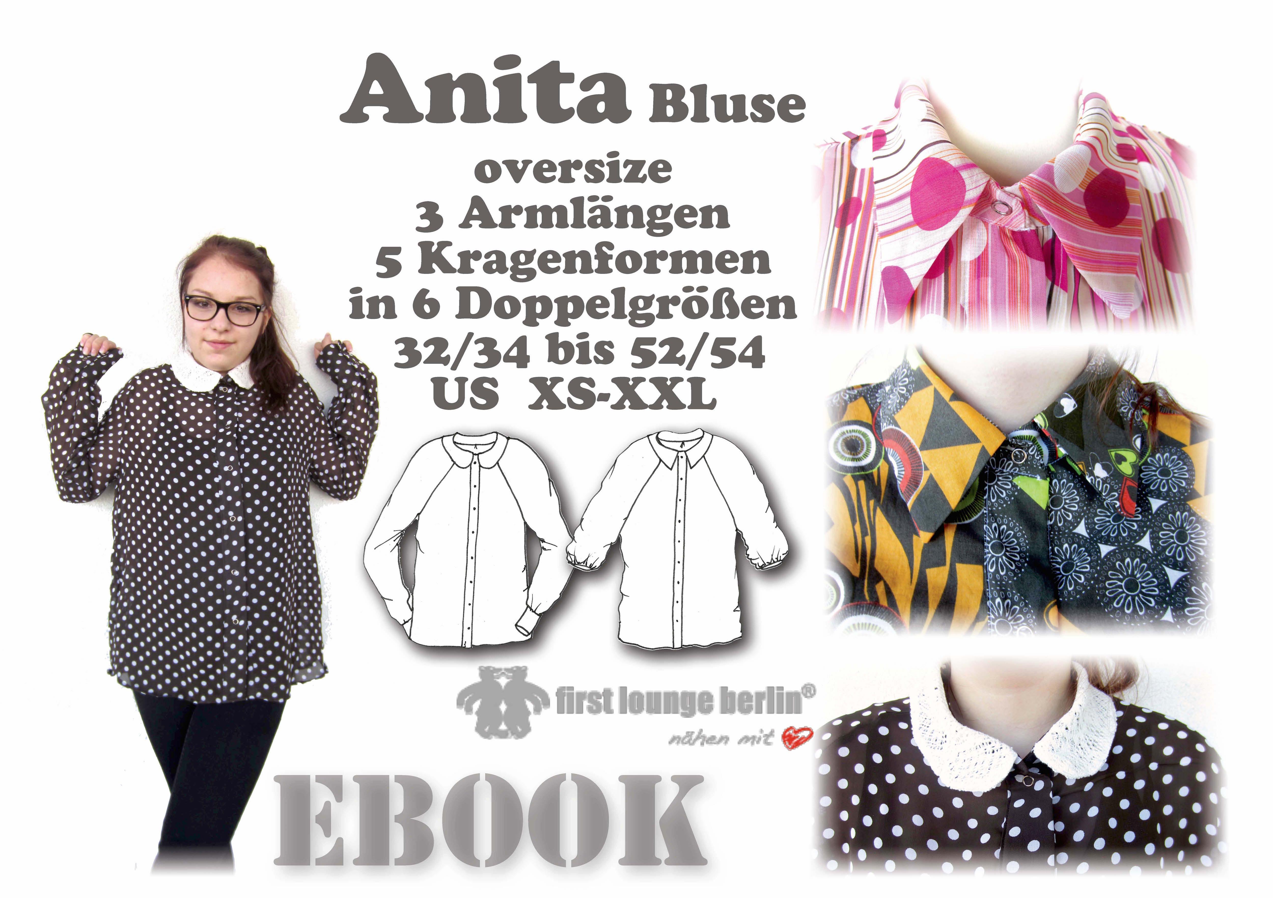 Anita Oversize-Bluse Umstandsbluse in 6 Größen Schnittmuster und ...