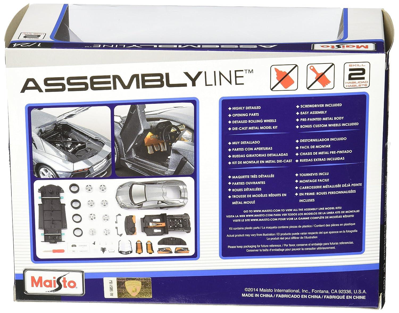 Amazon.com: Maisto 1:24 Scale Assembly Line Lamborghini Aventador LP ...