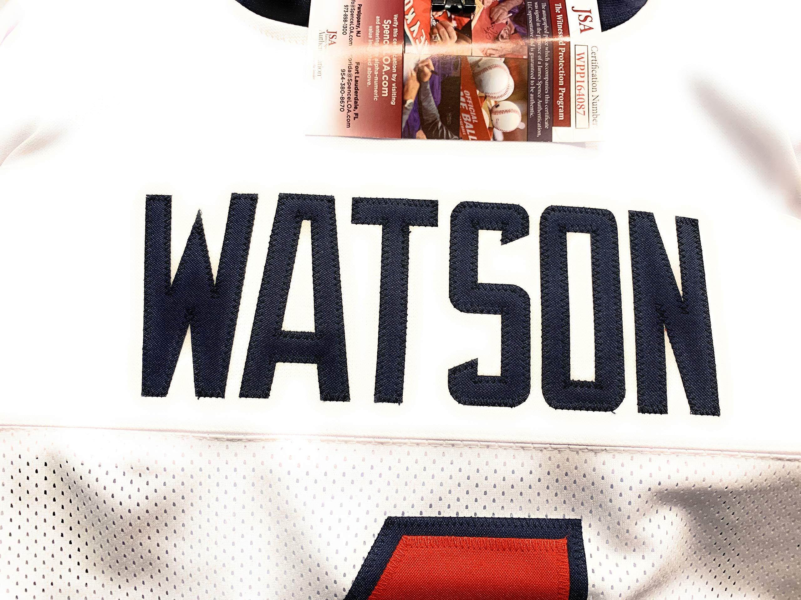 Deshaun Watson Houston Texans Signed Autograph White Custom Jersey JSA Witnessed Certified