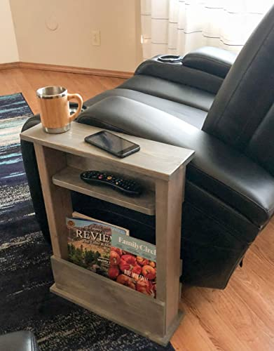Fantastic Sofa End Table Chair Arm Rest Side Table Slim Style And Rustic Caraccident5 Cool Chair Designs And Ideas Caraccident5Info