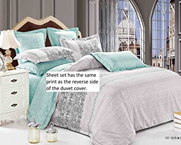 Amazoncom Swanson Beddings Tranquil Sheet Set Fitted Sheet Flat