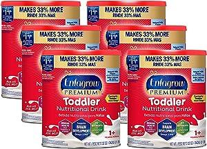 Enfamil Enfagrow Premium Toddler Nutritional Drink, 32 oz Powder Can (Pack of 6)