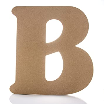 12 Wooden Letter B Large Wall Decor Letters