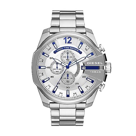 44f7842e7c9c Diesel Reloj Cronógrafo para Hombre de Cuarzo con Correa en Acero Inoxidable  DZ4477  Amazon.es  Relojes