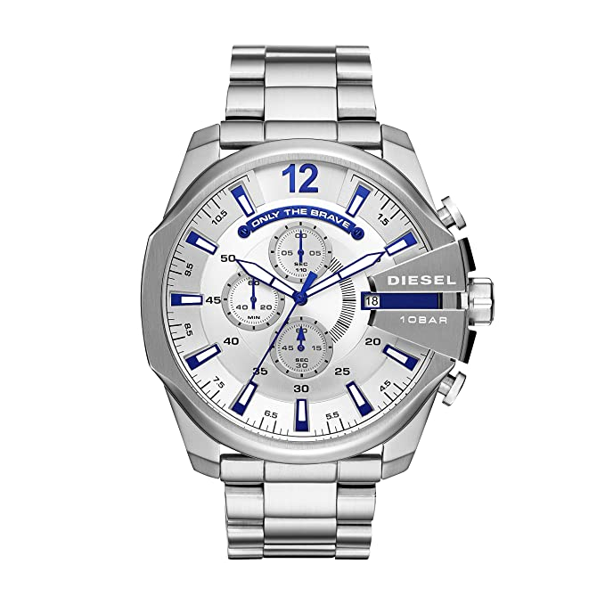 078e5e247b25 Diesel Reloj Cronógrafo para Hombre de Cuarzo con Correa en Acero  Inoxidable DZ4477  Amazon.es  Relojes