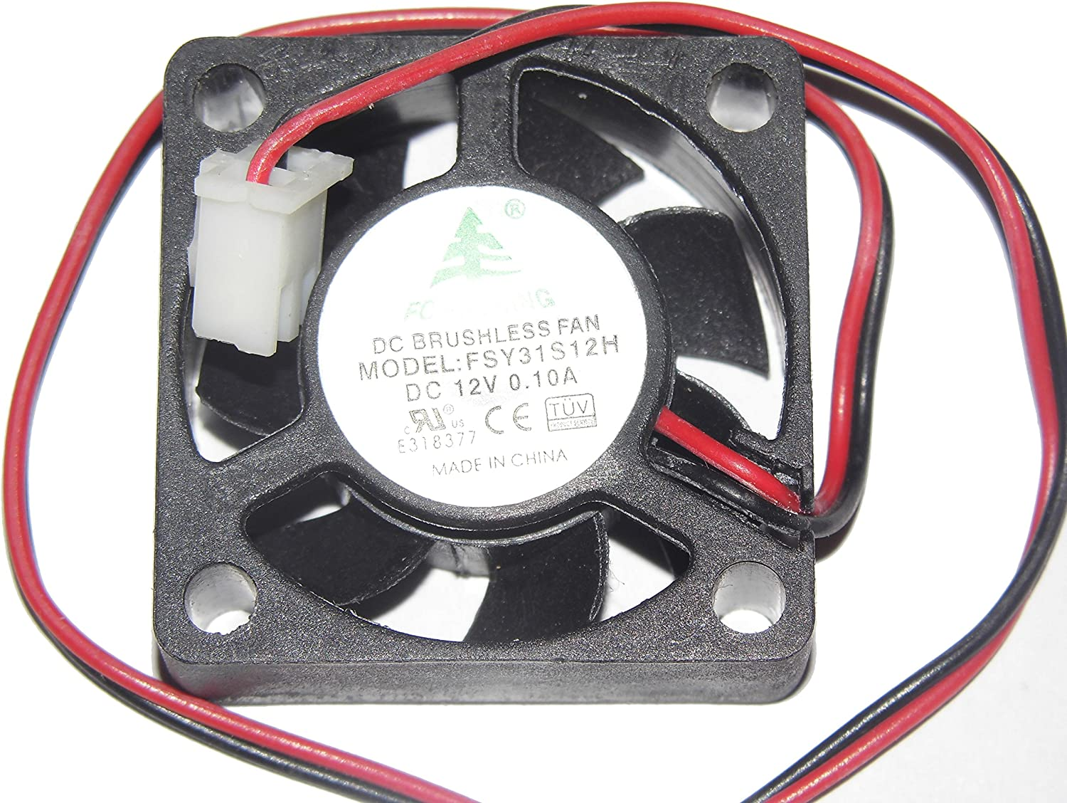 303010MM FSY31S12H 12V 0.1A 2Wire Cooling Fan