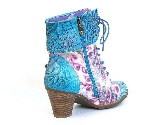 Laura Vita Damen Stiefeletten blau-kombi (türkis) AGATHE 01: Amazon.de:  Schuhe & Handtaschen