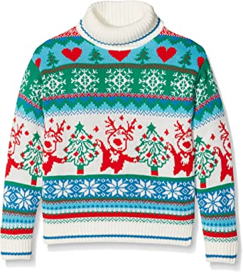 British Christmas Jumpers Girls Dancing Reindeer Jumper