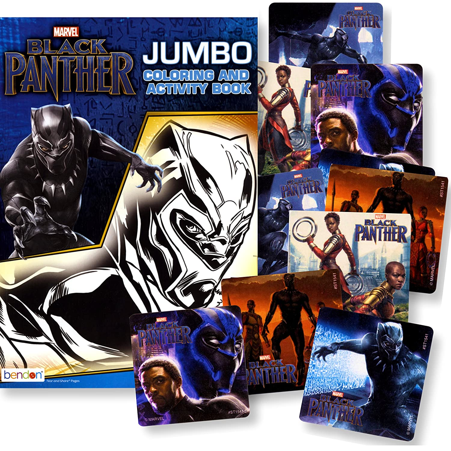 Amazon com black panther coloring book with black panther stickers black panther movie toys games