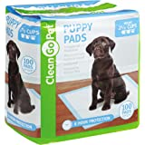 Clean Go Pet Puppy Pads, Leakproof, Five-Layers, Eight-Hour Protection, Scented to Attract Puppies