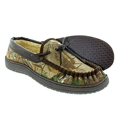 Itasca Men's Camo Sportsman's Size Slipper, Brown/Camo, 10 M US | Slippers