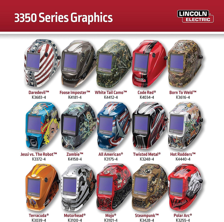 Lincoln Electric K4440-3 VIKING Hot Rodders 3350 Auto Darkening Weldin