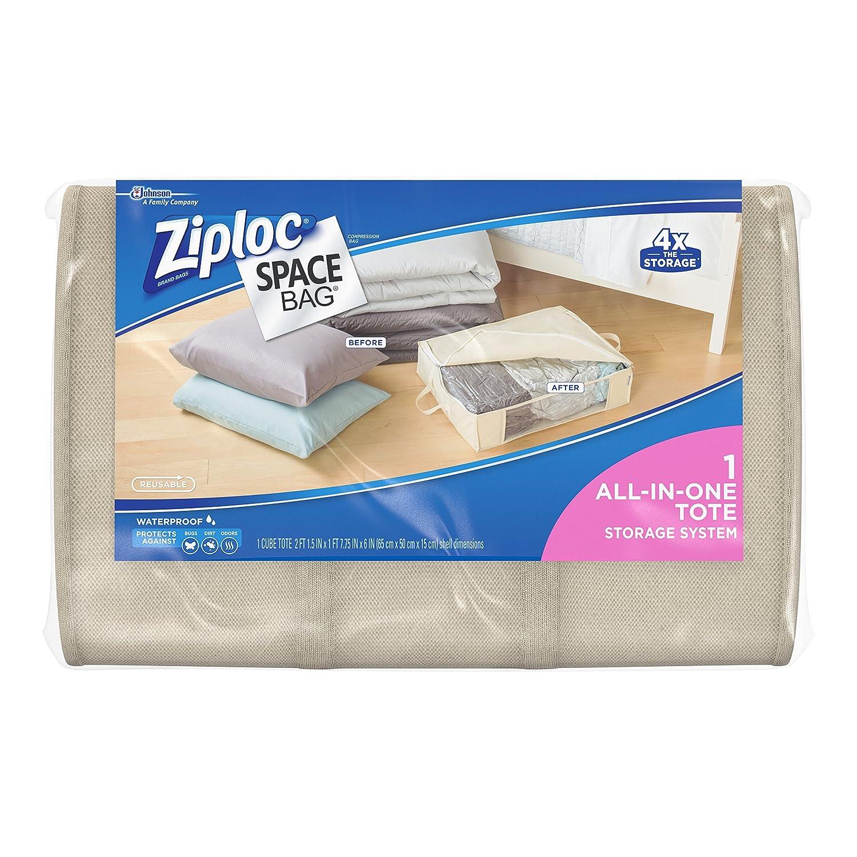 Amazon Ziploc Space Bag 1ct Underbed Tote Home & Kitchen