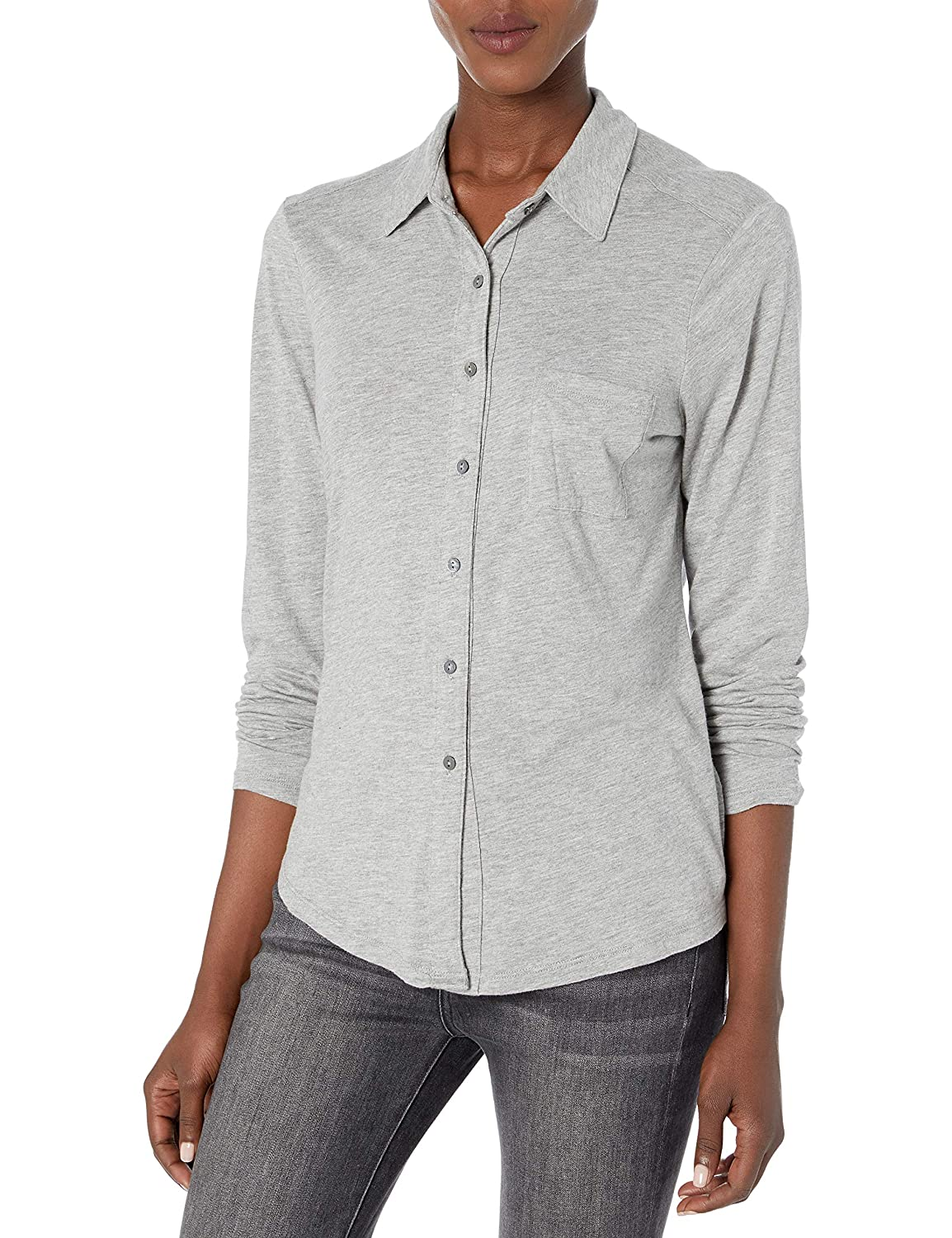 Image of Button-Down Shirts Michael Stars Women's Harley Knit Button Down