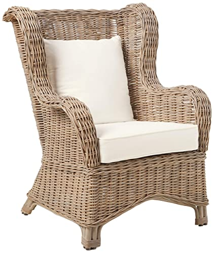 Panama Jack Sunrooms PJS-3001-KBU-OC Exuma Occasional Chair with Cushion, Light Beige