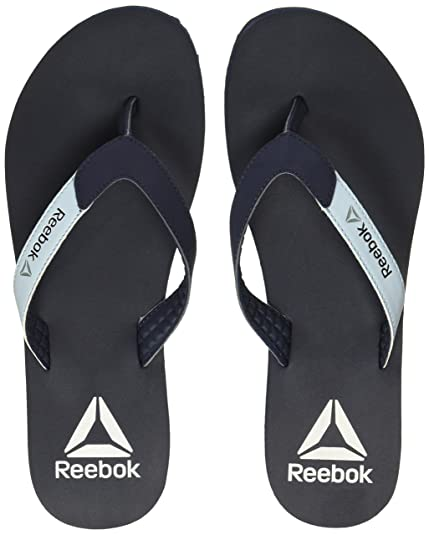 2b25259bc Reebok Women s Core Flip Navy Blue Pewter SIL Wht Flip-Flops and ...