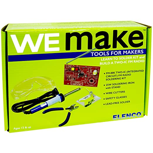 Amazon wemake fm radio soldering kit with tools toys games wemake fm radio soldering kit with tools solutioingenieria Images
