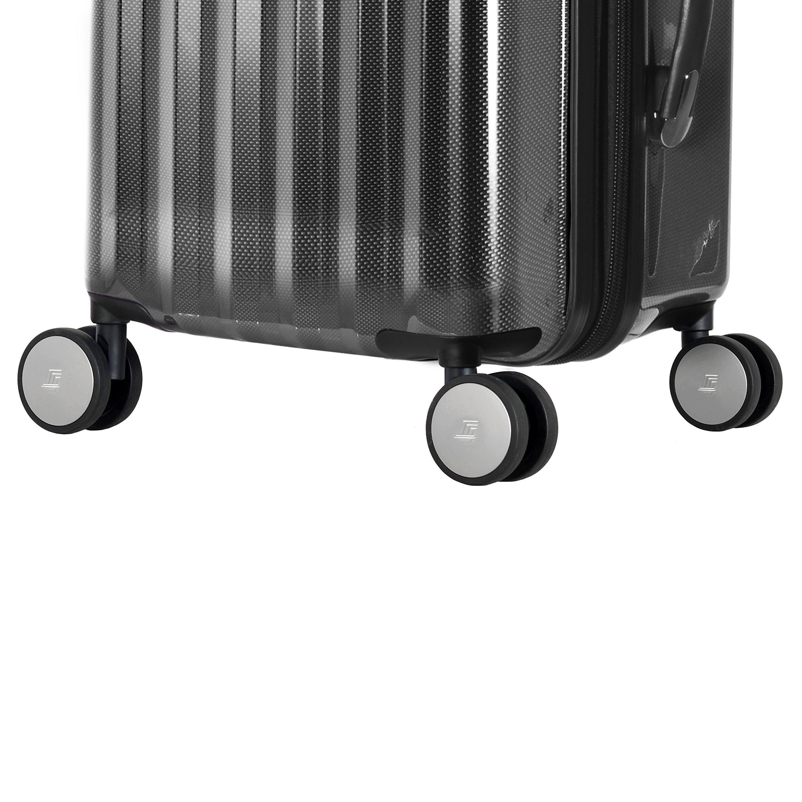 Olympia Luggage Titan 21 Inch Expandable Carry-On Hardside Spinner, Black, One Size by Olympia (Image #5)